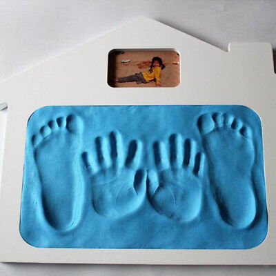 Cute Baby Handprint Footprint Clay Hand Foot Ink Pad Craft Gifts Deep Blue