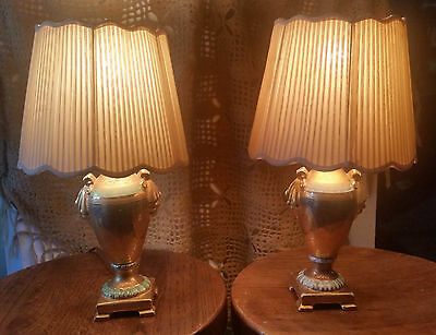Victoria Czechoslovakia Antique Lamps Hand Decorated 24K Gold Incrusted 1829