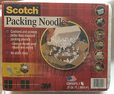 3M Scotch Foam Packing Noodles Packed - .21 Cu Ft Expands to .625 cu ft *New