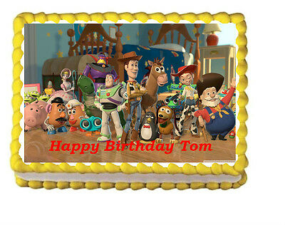 Woody Toy Story A4 Edible Icing Cake Topper