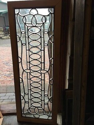 Sg 1101 Antique All Beveled Glass Transom Window 22.5 X 61