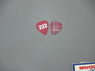 """Maroon5 guitar pick silver on red """"222"""" touring pick!"""