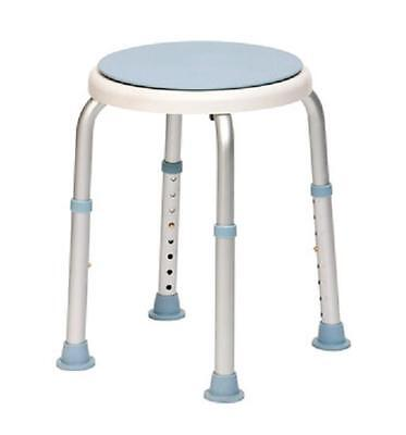Height Adjustable Round Bath Stool With Rotating Seat