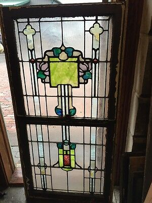Sg 1104 Antique Double Hung Stainglass Landing Window Rudy Brothers