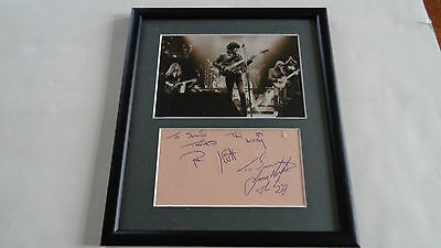 Thin Lizzy /phil Lynott Autograph /signed Page 1981