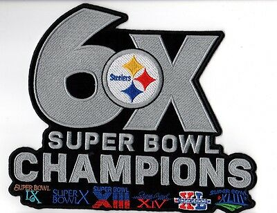 Pittsburgh Steelers Patch Xlarge Jacket Style 6X Super Bowl Champ Superbowl 51 ?