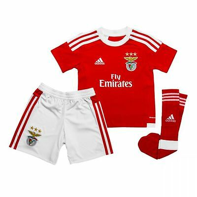adidas Benfica Home kit Official Boxed Kids Children Portugal Shirt,Shorts,Socks