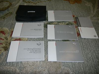 2016 Nissan Maxima With Navigation Owners Maual Set + Free Shipping