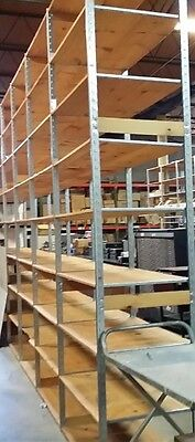 Store Display Fixtures 10 SECTIONS HEAVY DUTY LOZIER SHELVING 20' Run 10' Tall