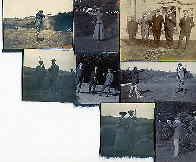 7 X Original Photos People Hunting-  Early 1900s