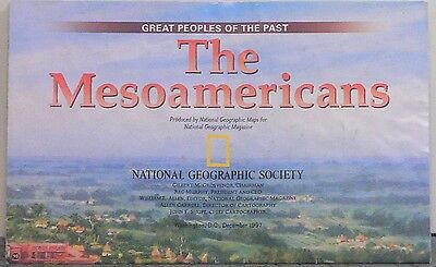 Vintage 1997 National Geographic Map of the Mesoamericans