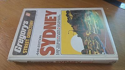 gregorys 44th edition SYDNEY STREET DIRECTORY 1979 hardcover