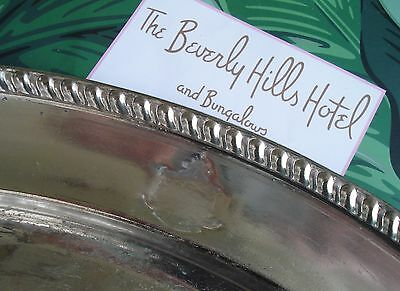 BEVERLY HILLS HOTEL CRESTED Very Large SERVING PLATTER  Reed and Barton VINTAGE