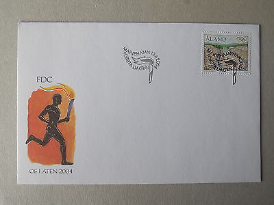 2004 Olympic Games FDC from Aland