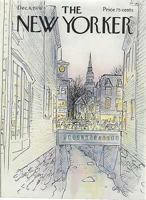 COVER ONLY The New Yorker magazine ~December 6 1976 ~ GETZ ~ Town Bridge River