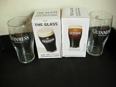 Guinness Pint Glass X 2 New In Box