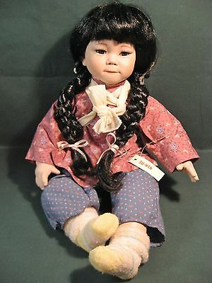 "18"" Porcelain Bisque Dynasty Doll Su-Wen 1992 Anna Collection C9365"