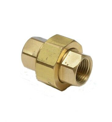 1/2 NPT Female Three Piece Union Pipe Coupling Joiner Adapter Brass Fitting