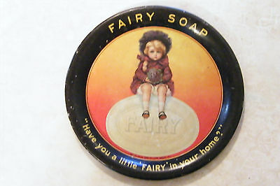 FAIRY SOAP Tin Litho ADVERTISING TIP TRAY Chicago H H FAIRBANK Vintage Antique