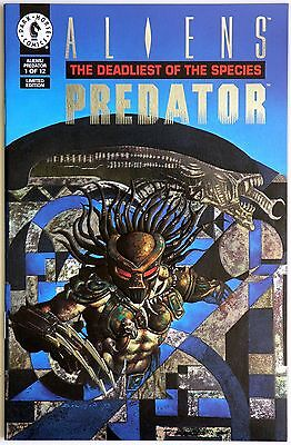 Aliens Predator The Deadliest of the Species 1 Limited Edition Embossed Cover
