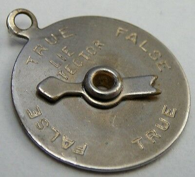 Vintage Lie Detector Charm Pendant Working Moving Spinner Arrow