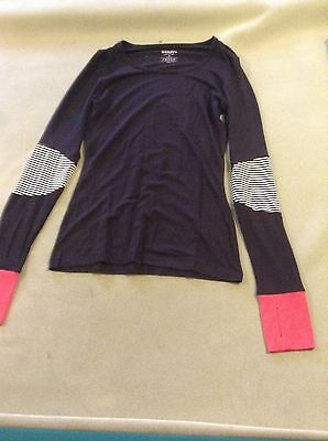 Wander by Hottotties Woman's Thermal Colorblocked Long Sleeve Small NWOT.