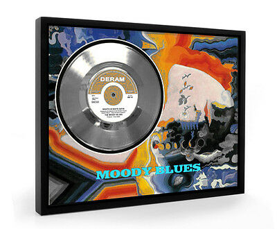 Moody Blues Nights In White Satin Framed Silver Disc Display Vinyl (C1)