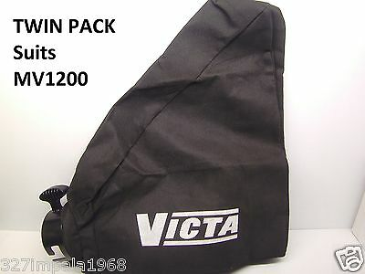 VICTA Genuine Replacement Mini Vac Vacuum Bag Suits MV1200 Twin Pack