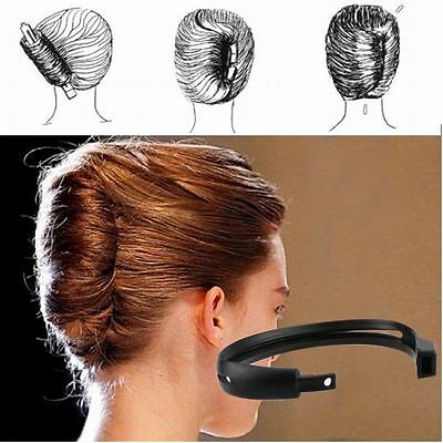 DIY Women French Twist Clip Hair Sticks Bun Tool Donut Maker Holder