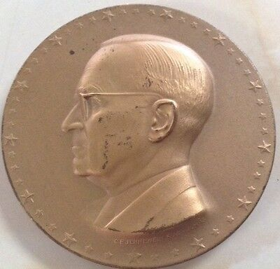 1949 Official Harry S Truman Inuagural Bronze Medal by C P Jennewein great cond