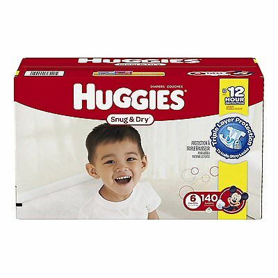 Huggies Snug & Dry Diapers, Size 6, 140 Count One Month Supply