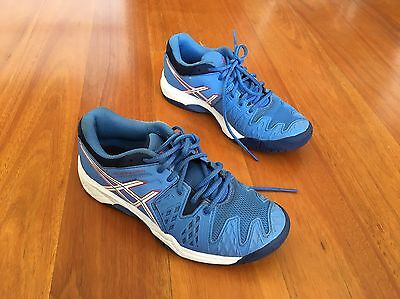 Asics girl's Gel Resolution 6 Tennis shoes Size US 3 Blue