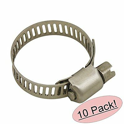"""Cosmas Size 6 All Stainless Steel Hose Clamp - 1/2"""" to 3/4"""" Range - 10 Pack New"""