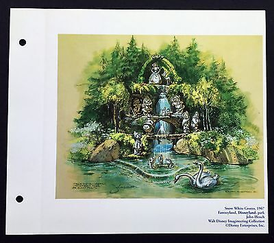 DISNEYLAND Concept Art Lithograph Snow White Grotto From 50th VIP Gift!