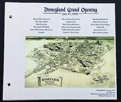 DISNEYLAND Concept Art Lithograph Herb Ryman Park Overview From 50th VIP Gift!