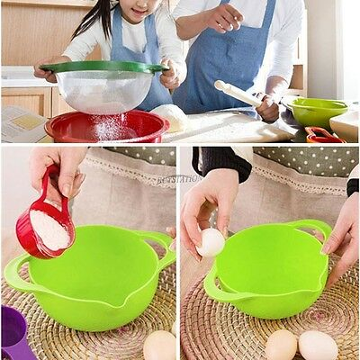 10 Sets Mixing Bowl Set Plastic Compact Measuring Cups Kitchen Salad Bowl Baking