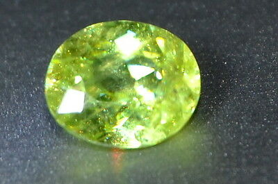 Beautiful 0.83ct SI Natural Untreated Yellow/Green Oval Sphene Gemstone