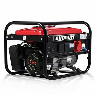 NEW 196cc 1.8kW 4 Stroke 3 Phase Output Outdoor Petrol Generator, 13L Fuel Tank