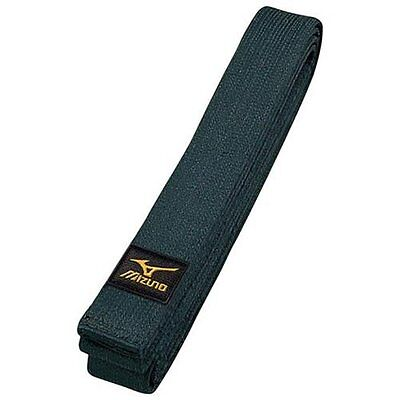 Mizuno judo black belt band IJF with Certified mark plain-woven made in Japan