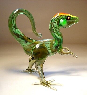 "Blown Glass ""Murano"" Art Figurine Dino Dinosaur TYRANOSAURUS Rex"
