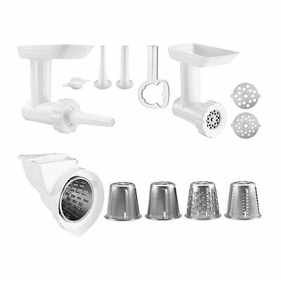 Stand Mixer Attachment 2 Pack Food Grinder Rotor Slicer Shredder Sausage Stuffer