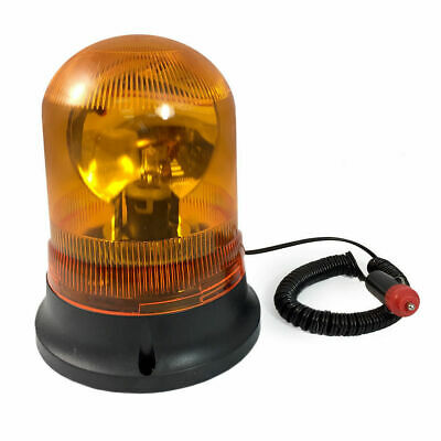 Amber Revolving Warning Light Magnetic Base Emergency/12V Car/Caravan/Truck
