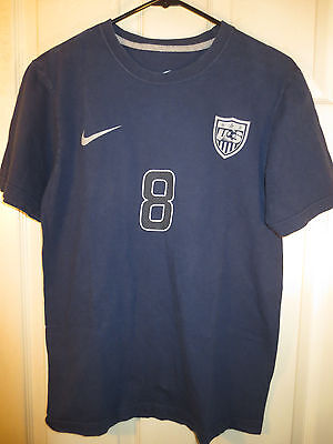 Nike Men's USA National Soccer Team #8 Dempsey SS Tee T Shirt Navy Size Small