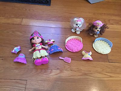 -Large Lot Fisher Price Snap N Style 1Doll~ 2 Dogs
