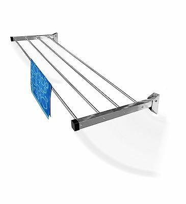 Rainbow Drywell Clothes Dryer Drying Rack Wall Mount 4 pipes 4 feet Glider
