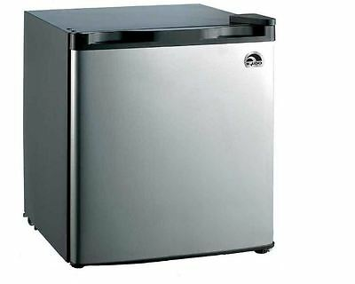 IGLOO 1.6 cu. ft. Mini Refrigerator with Compact Freezer, Stainless Steel Black