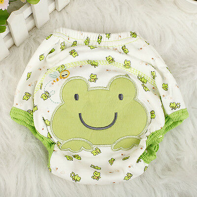 New Baby Infant Cloth Diaper Nappy Cover Pants Waterproof Frog-Print Breathable;
