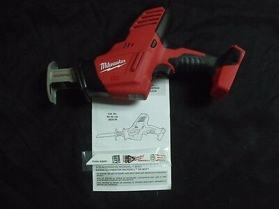 New Milwaukee 2625-20 M18 18 Volt 18v Red Lithium Hackzall Cordless Bare Tool