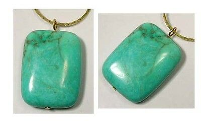 19thC Antique 56ct Siberian Turquoise Ancient Navaho American Indian Rain River