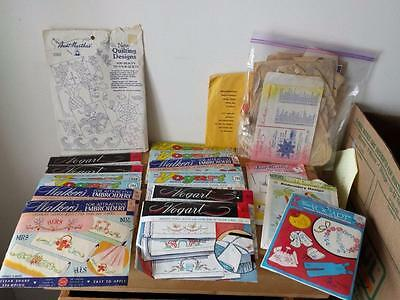 1950/60's Lot of Embroidery Transfers & Patterns - Vogart, Walkers, Aunt Martha